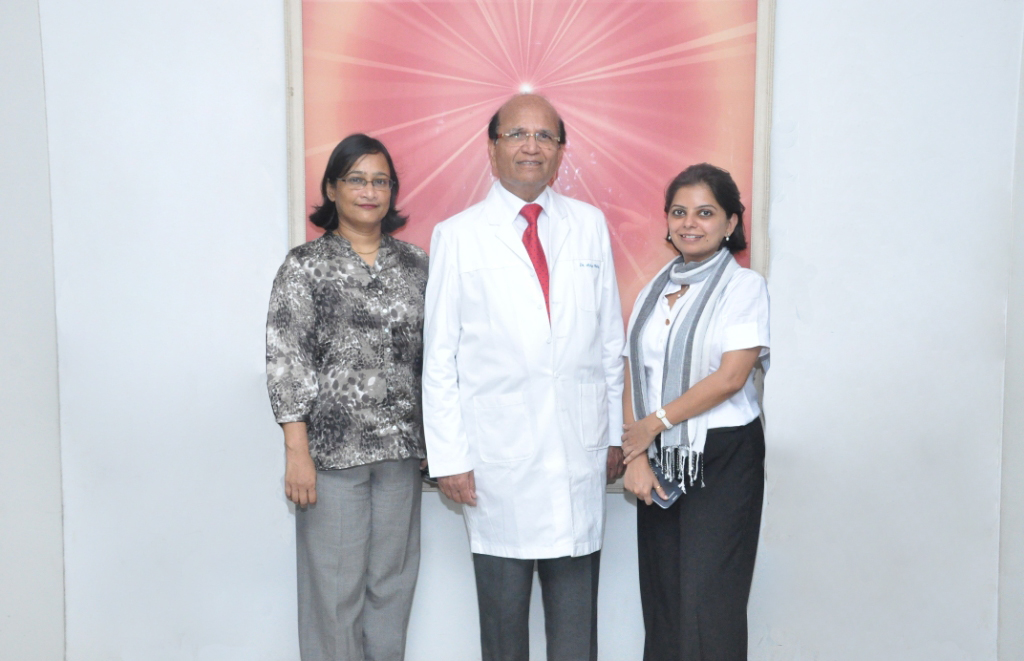 Medical Director Dr Ashok Mehta with his office staff.