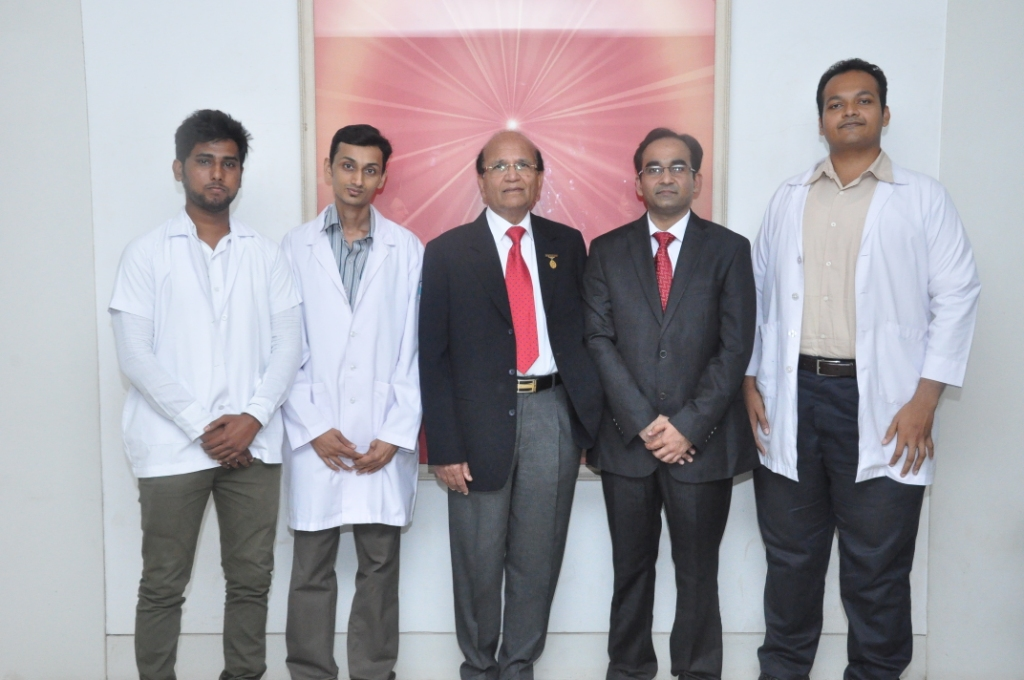 Surgical team of Swiss Cleft Center with Dr Ashok Mehta