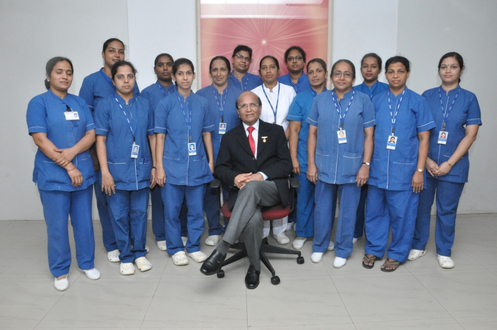 Senior Nursing Staff with Sis Lalamma Alex and Dr Ashok Mehta
