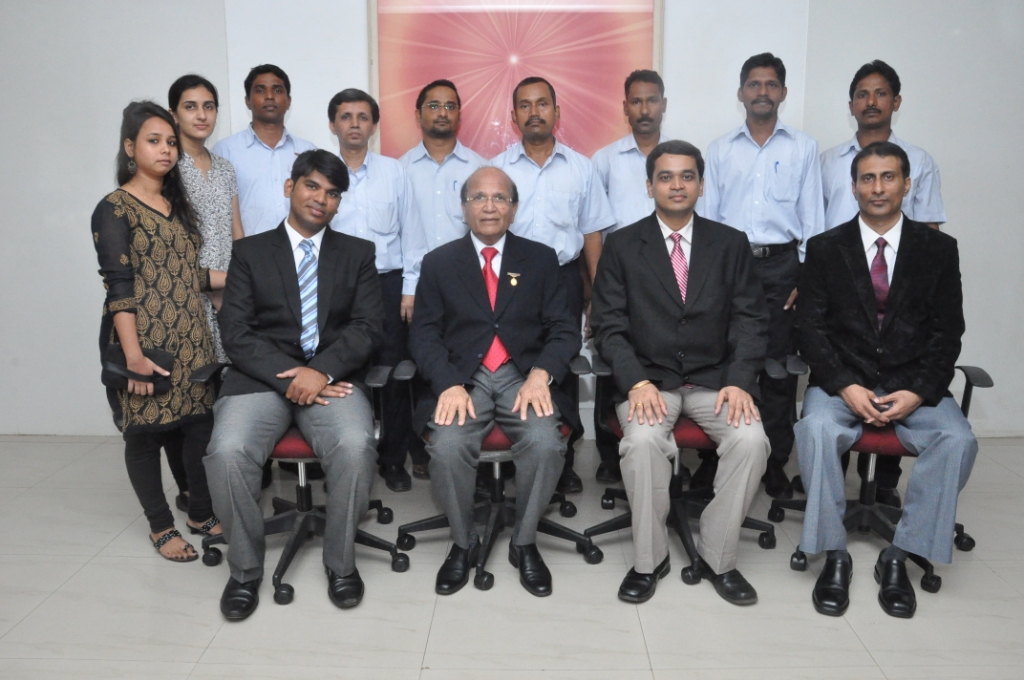 Bio-Medical & Civil Works & Infrastructure Services (CWIS) Dept team with Dr Ashok Mehta